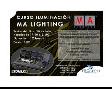 Consolas de MA Lighting nuevos cursos en Canarias