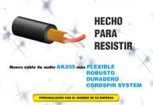 cable de audio AK 205 Percon lanza al mercado un nuevo cable de audio