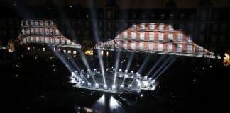Proyectores iluminación Mythos IV Centenario de Madrid