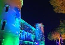 La fachada del Castillo de Viñuelas se ilumina con SONO