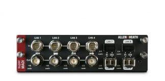 tarjeta SuperMADI Allen & Heath presenta el firmware 1.51 para dLive