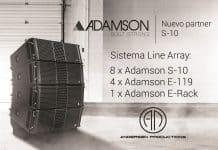 Sistema Adamson S10 Andersen Audio Productions nuevo partner de Adamson
