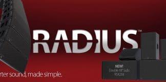 Subwoofer RSX218 que se une a la serie RADIUS de EAW