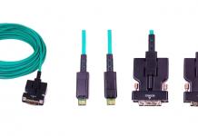 cable óptico activo desmontable DVI de noved de Percon