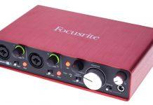 interface de audio para elección de análisis acústico música y grabación