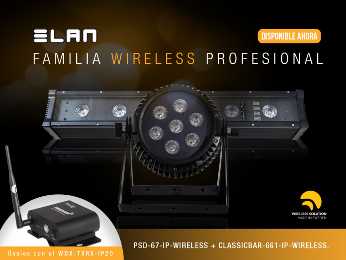 ELAN, fabricante de iluminación profesional, presenta productos LED inalámbricos