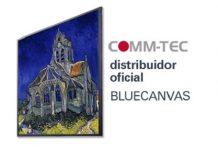 COMM-TEC distribuidor oficial de pantallas LCD para señalización digital de BLUECANVAS