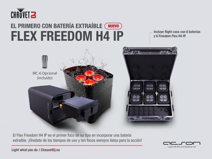 Flex Freedom: proyector de iluminación profesional de leds Wireless