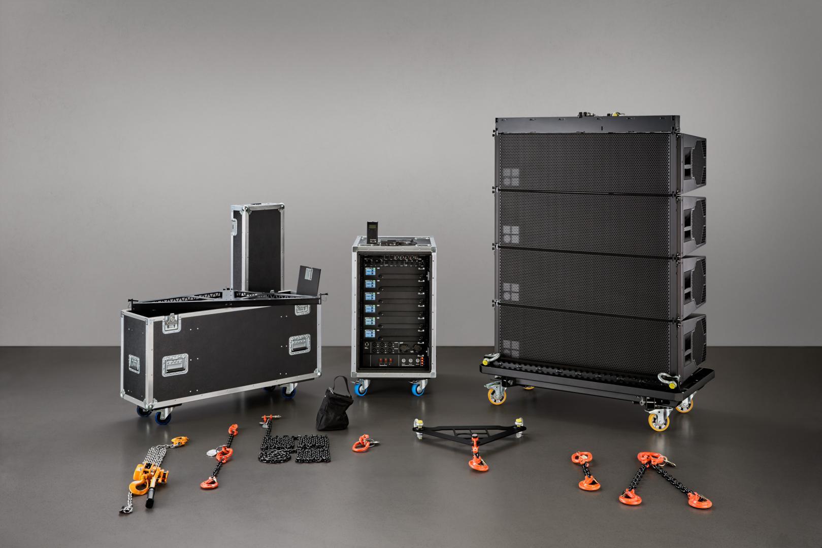Sistema de sonido profesional line array Serie SL y el Sistema GSL de d&b