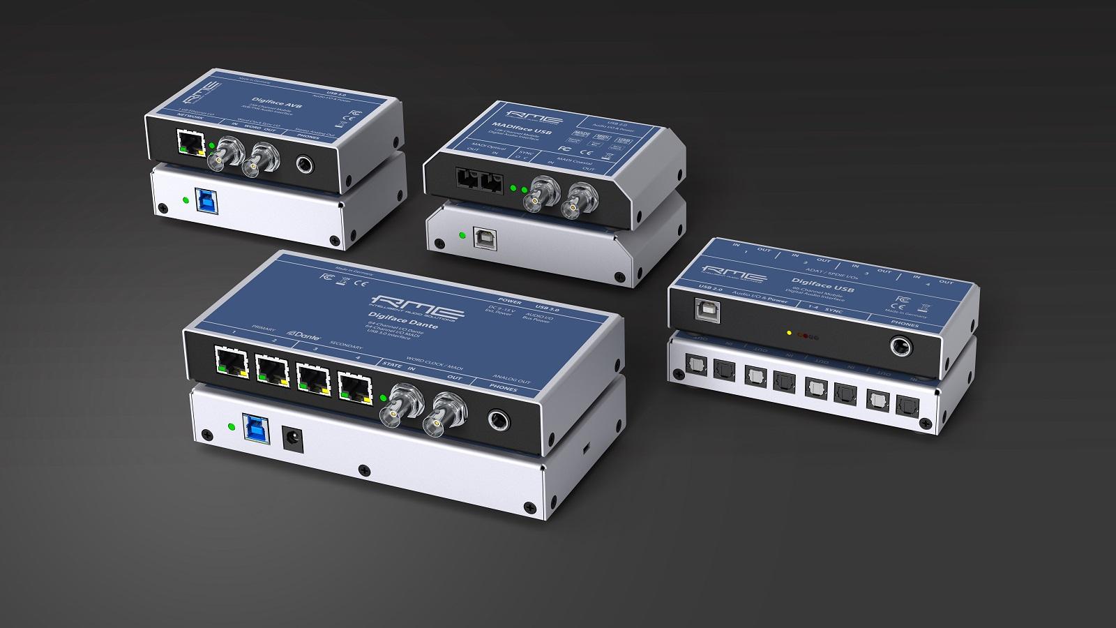 Tecnología red de audio y soluciones móviles Dante de RME