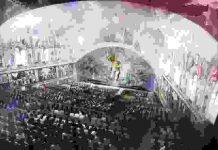 Proyectores láser profesionales, pintan a Miguel Ángel