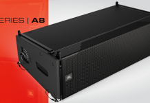 altavoz line array compacto VTX A8 y el subwoofer VTX B18 de JBL