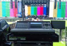 Consolas de sonido Live SSL y Altavoces Line Array EAW