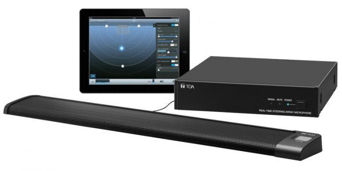 Equipo de captación de sonido Array microfónico AM-1 de TOA