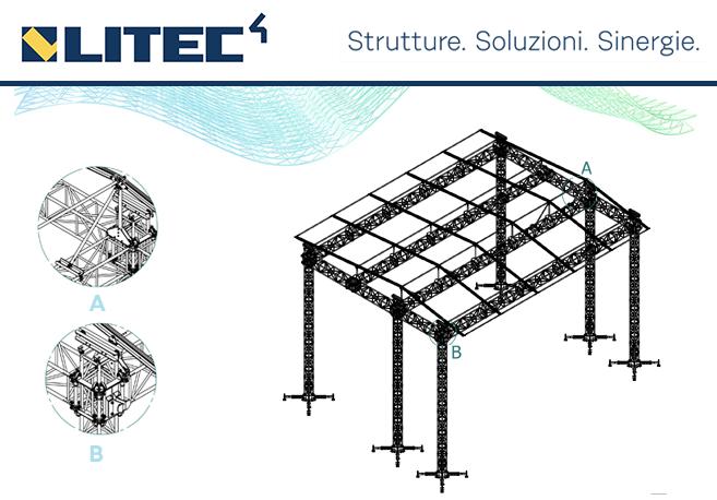 Truss de techo Roof System de LITEC, de doble paso QL52 de LITEC