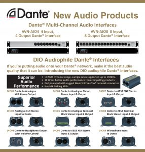 interfaces de audio Multi-Channel Dante