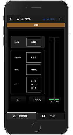 app de gestión de audio para sistemas VANTEC y ALTEA 700