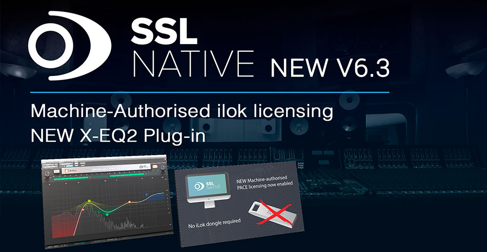 Plugins SSL y Licencia iLok interna X-EQ 2